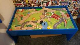 Wooden track play table