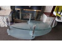 Glass Coffee table / tea table / tv stand 3 tier