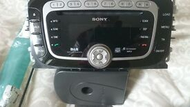 Ford Focus Dab radio 6 Disc mp3 player with hands free kit.