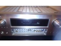 Denon AVR-2808 fully working , 7 channel stereo surround receiver amplifier.