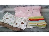 Three baby blankets