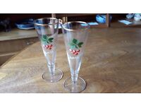 "Two ""Cherry Be"" cocktail glasses"