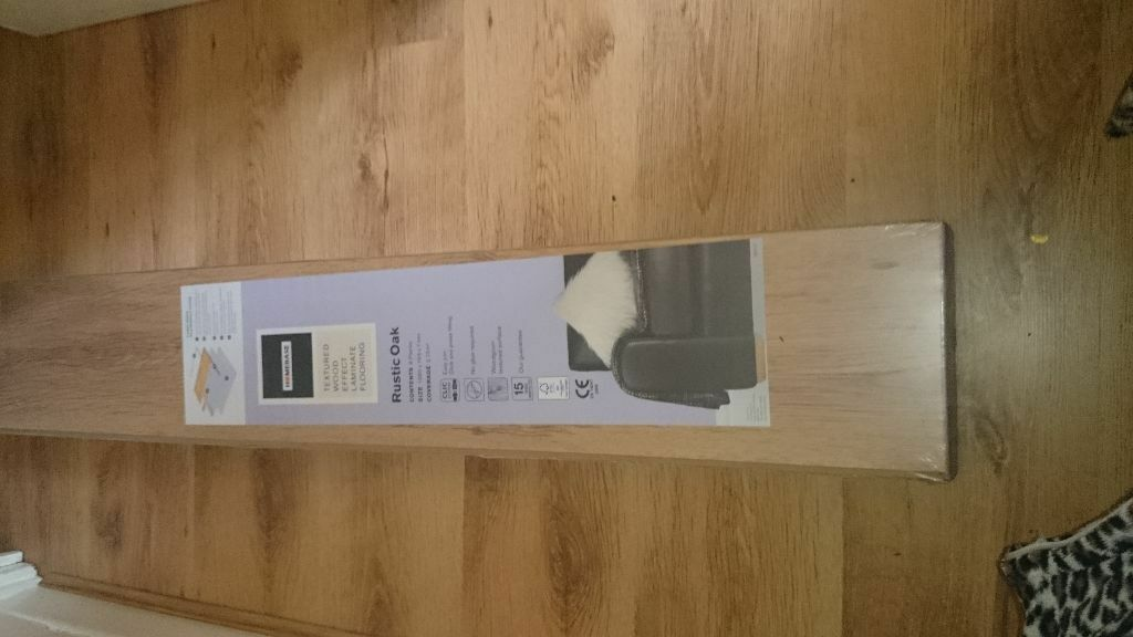 Brand New Unopened Homebase Textured Laminate Rustic Oak Flooring 4 Packs