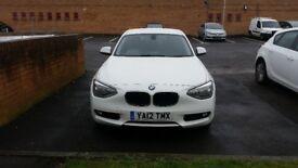 2012 BMW 1 Series 1.6 116d EfficientDynamics Sports Hatch 5dr, Full leather, Zero Road Tax, Long MOT