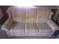 Sofa & 2 armchairs + 1 footstool - collection only