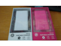 New Goji Portable Phone/tablet Chargers 2500mAh - white or pink