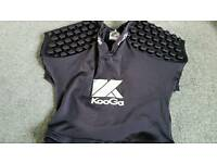 Kooga rugby shoulder pads large boy or small man