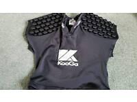 Kooga rugby shoulder pads large boy or small man