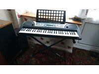 Yamaha PSR-175 Electric Keyboard + stand + range of music books