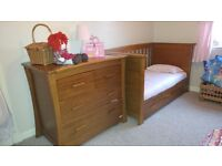 Mamas and Papas ocean Cotbed and changing unit