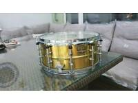 Tama brass snare drum