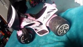 Girls motorbike