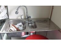 sinks excellent condition from £25 with mixer tap