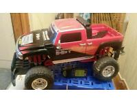 Enormous remote controlled monster truck