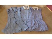 3 blue check school girl dresses age 5 FREE