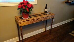 Rustic hand made reclaimed wood tables