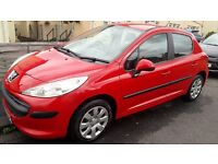 56 reg peugeot 207 long mot low mileage