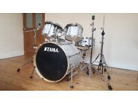 Tama Superstar Drum Kit White Satin Haze £500 ONO