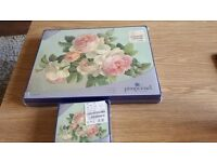 Brand New Portmeirion Antique Roses Placemats and Coasters