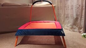 Chad Valley Padded Junior Trampoline with Support Handle