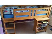 Childrens Sleep Station Set - Full Size Bed, Pull Out Desk, Cupboard and Wardrobe - Pick Up Only