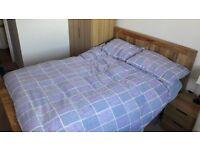 """Oak Furnitureland Natural Solid Mango 4ft 6"""" Double Bed"""