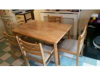 Table and 5chairs