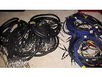 Assorted cable looms for studio/live equipment