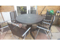 Garden Table & Chairs x6