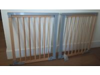 Two BabyDan designer gates with extensions
