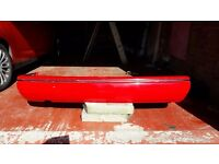 Ford Escort XR3i, rear bumper, 1989 in Radiant Red