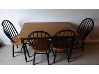 Dining Table with Four Chairs (Matching, good condition)