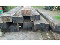 15 old oak railway sleepers