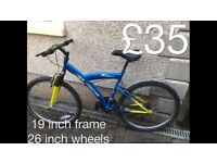 gents Mountain Bikes £30 - £75 mountain bike cycle commuter student mtb full working order