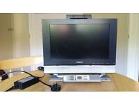 """HUMAX 17"""" wide digital tv (TFT-LCD). Model LGB-17DTTV, including NR-022 remote and power supply"""
