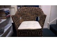 Lovely, high quality wicker chair for living room, dining room, bedroom or conservatory.