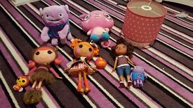 Lala loopsy dolls and Home (film) toys and light shade