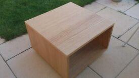 COFFEE TABLE , oak veneer with storage