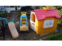 Garden Kids' Toys: House, Slide, Car