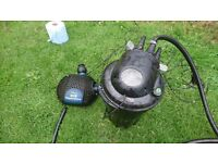 pond pump and uv filter