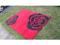 Carpet hand carved rose