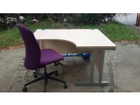 Large corner desk and chair