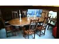 Ercol colonial dining table and chairs