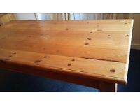 Pine dining table, country style, antique pine finish