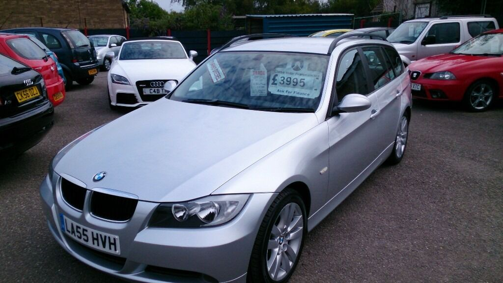 VERY CLEAN 2006 BMW 320D SE TOURING ESTATE SILVER NEW MOT F/S ...