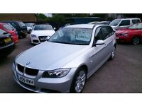 VERY CLEAN 2006 BMW 320D SE TOURING ESTATE SILVER NEW MOT F/S/HISTORY R/C/LOCKING 3 KEYS ALLOYS CD +