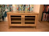 corner cupboard solid oak with grant insert television cupboard