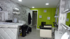 Shop to rent, currently a Beautician, hair salon and nail bar, also small room for tanning