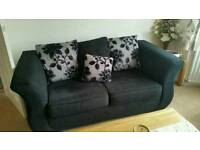 DFS sofa (Black) - 2 seater and 1 seater *NOT* dining table, bed, cooker, fridge, freezer, armchair
