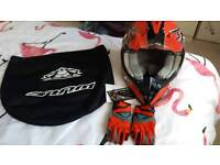Brand New with tags wulf sport helmet and gloves